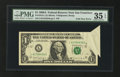 Error Notes:Foldovers, Fr. 1916-L $1 1988A Federal Reserve Note. PMG Choice Very Fine 35EPQ.. ...
