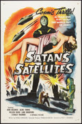 """Movie Posters:Science Fiction, Satan's Satellites (Republic, 1958). One Sheet (27"""" X 41""""). FlatFolded. Science Fiction.. ..."""
