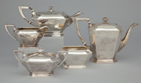AN AMERICAN FIVE-PIECE SILVER TEA AND COFFEE SERVICE Gorham Manufacturing Co., Providence, Rhode Island, circa 19