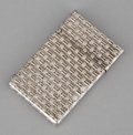 Silver Smalls:Other , A SILVER BASKET WEAVE LIGHTER . Maker unknown, probably American,circa 1950. Marks: STERLING. 1-7/8 inches high (4.8 cm...