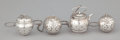 Silver Smalls:Other , A GROUP OF FOUR AMERICAN SILVER TEA BALLS . Watrous ManufacturingCo., Wallingford, Connecticut, circa 1940. Marks: (crescen...(Total: 4 Items)