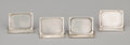 Silver Smalls:Other , A SET OF FOUR AMERICAN SILVER PLACE CARD HOLDERS . Maker unidentified, probably American, circa 1940. Marks: JNK, STERLING... (Total: 4 Items)