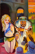 Pulp, Pulp-like, Digests, and Paperback Art, HUGH JOSEPH WARD (American, 1909-1945). Spicy Adventure Stories,pulp cover, July 1935. Oil on canvas. 35 x 23 in.. Sign...