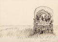 Paintings, GARTH WILLIAMS (American, 1912-1996). Little House on the Prairie, original cover art, 1953. Pencil on tracing paper. 10... (Total: 3 Items)