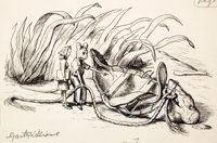 GARTH WILLIAMS (American, 1912-1996) Stuart Little, Just a Mess, page 121 illustration, 1945 Ink on
