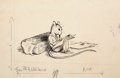 Mainstream Illustration, GARTH WILLIAMS (American, 1912-1996). Stuart Little, A Letter toHarriet, page 108 illustration, 1945. Ink on paper. 5.2...