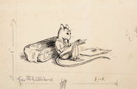 GARTH WILLIAMS (American, 1912-1996) Stuart Little, A Letter to Harriet, page 108 illustration, 1945