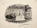 Paintings, GARTH WILLIAMS (American, 1912-1996). Stuart Little, Let Me Out!, page 48 illustration, 1945. Ink on paper. 7.5 x 9.5 in...