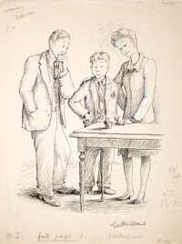 GARTH WILLIAMS (American, 1912-1996) Stuart Little, A New Addition, frontispiece, 1945 Ink on paper<