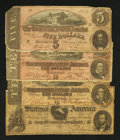 Confederate Notes:1864 Issues, T65 $100 1864. T68 $10 1864 Two Examples. T69 $5 1864.. ... (Total: 4 notes)
