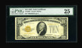 Small Size:Gold Certificates, Fr. 2400* $10 1928 Gold Star Certificate. PMG Very Fine 25.. ...