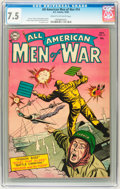 Golden Age (1938-1955):War, All-American Men of War #14 (DC, 1954) CGC VF- 7.5 Cream tooff-white pages....