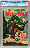 Golden Age (1938-1955):War, All-American Men of War #17 (DC, 1955) CGC VF 8.0 Off-white towhite pages....