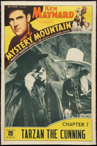 """Mystery Mountain & Other Lot (Mascot, 1934). One Sheets (2) (27"""" X 41"""" & 26"""" X 40.5""""). Chapt..."""