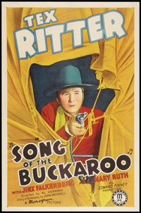 "Song of the Buckaroo (Monogram, 1938). One Sheet (27"" X 41""). Western"