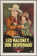 "Movie Posters:Western, Don Desperado (Pathé, 1927). One Sheet (27"" X 41""). Western.. ..."