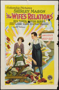 """Movie Posters:Comedy, The Wife's Relations (Columbia, 1928). One Sheet (27"""" X 41"""") Style A. Comedy.. ..."""