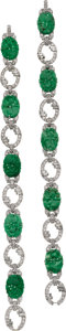 Estate Jewelry:Bracelets, Jadeite Jade, Diamond, Platinum Bracelets. ...