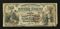 National Bank Notes:Missouri, Saint Louis, MO - $20 1882 Brown Back Fr. 504 The State NB Ch. #5172. ...