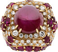 Estate Jewelry:Rings, Star Ruby, Ruby, Diamond, Gold Ring, David Webb. ...