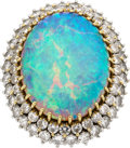 Estate Jewelry:Rings, Opal, Diamond, Gold Ring. ...