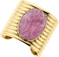 Estate Jewelry:Bracelets, Pink Tourmaline, Gold Bracelet. ...