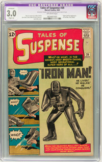 Tales of Suspense #39 (Marvel, 1963) CGC Apparent GD/VG 3.0 Slight (A) Off-white pages