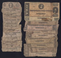 Confederate Notes:Group Lots, Confederate Low Denominations.. ... (Total: 22 notes)
