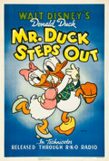 "Movie Posters:Animation, Mr. Duck Steps Out (RKO, 1940). One Sheet (27"" X 41"").. ..."