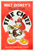 "Movie Posters:Animation, Fire Chief (RKO, 1940). One Sheet (27"" X 41"").. ..."