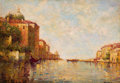 Fine Art - Painting, European:Modern  (1900 1949)  , ANTOINE BOUVARD (French, 1870-1956). Venice. Oil on canvas laid on masonite. 14 x 20-1/4 inches (35.6 x 51.4 cm). Signed...