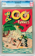 Golden Age (1938-1955):Funny Animal, Zoo Funnies #2 (Charlton, 1945) CGC VF/NM 9.0 Off-white pages....