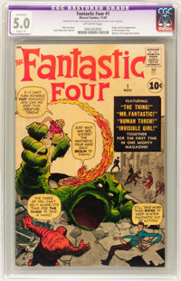 Fantastic Four #1 (Marvel, 1961) CGC Apparent VG/FN 5.0 Slight (P) Off-white pages