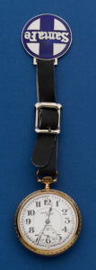 Timepieces:Pocket (post 1900), Illinois 21 Jewel Santa Fe Special With Fob. ...