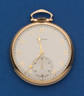 Timepieces:Pocket (post 1900), Longines 14k Gold 10 Size Open Face Pocket Watch. ...