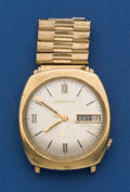 Timepieces:Wristwatch, Bulova 14k Gold, 214 Accutron Wristwatch. ...