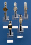 Timepieces:Wristwatch, Five 14k Gold Wristwatches With Non-Gold Bands. ... (Total: 5Items)