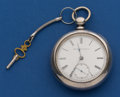 Timepieces:Pocket (pre 1900) , Elgin 18 Size, 4 1/2 oz. Coin Silver Key Wind. ...