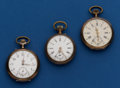 Timepieces:Pocket (post 1900), Three Swiss Silver Pocket Watches. ... (Total: 3 Items)