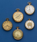 Timepieces:Pocket (post 1900), Lot of Five, 12 Size Pocket Watches For Restoration. ... (Total: 5Items)