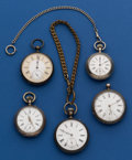 Timepieces:Pocket (post 1900), A Lot of Five Swiss Silver Pockets Watches For Restoration. ... (Total: 5 Items)