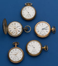 Timepieces:Pocket (post 1900), A Lot of Five, 16 Size Pocket Watches For Restoration. ... (Total: 5 Items)