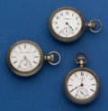 Timepieces:Pocket (post 1900), A Lot Of Three 18 Size Pocket Watches For Parts or Restoration. ... (Total: 3 Items)