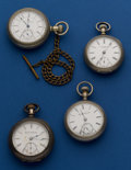 Timepieces:Pocket (post 1900), A Lot of Four 18 Size American Pocket Watches For Restoration. ...(Total: 4 Items)