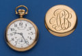 Timepieces:Pocket (post 1900), Hamilton 21 Jewel 992 With 24 Hour Dial Pocket Watch. ...
