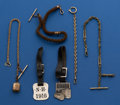 Timepieces:Watch Chains & Fobs, Lot Of Six Pieces of Fobs & Chains . ... (Total: 6 Items)