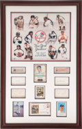 """Autographs:Others, 1930's-1990's New York Yankees """"Team of the Century"""" Signed Display...."""