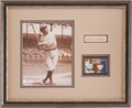 Autographs:Others, Circa 1930 Babe Ruth Signed Autograph Display....