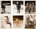 Hockey Collectibles:Photos, 1930's and '40's Hap Emms Estate Original Signed and UnsignedPhotographs Lot of 23....