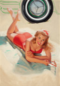 Paintings, WILLIAM MEDCALF (American, 20th Century). Kelly Girl. Oil on canvas. 30.5 x 21.5 in.. Signed lower right. ...